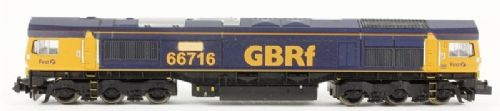 "Dapol ND044 Class 66 diesel 66715 ""Willesden Traincare"" in GBRf livery"
